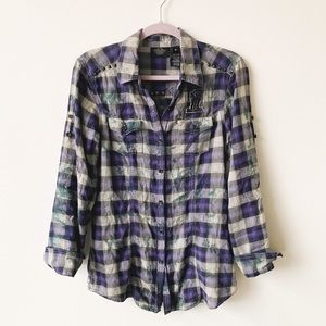 Harley Davidson thin the dye flannel